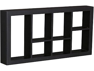 """Renton 24"""" Black Display Shelf, , large"""