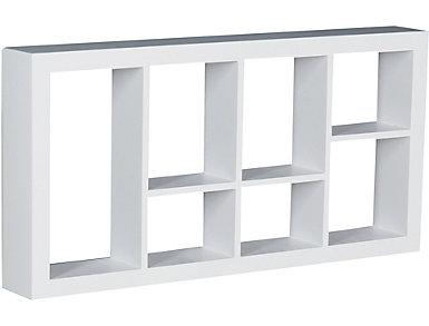 """Renton 24"""" White Display Shelf, , large"""