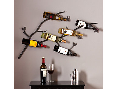 Calbira Brown Wine Rack Wall Mount, , large