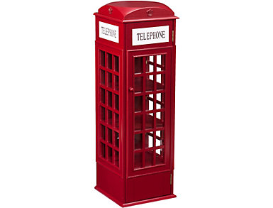 City Burgundy Phone Booth Cabinet, , large