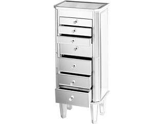 Vista White Mirrored Jewelry Armoire, , large