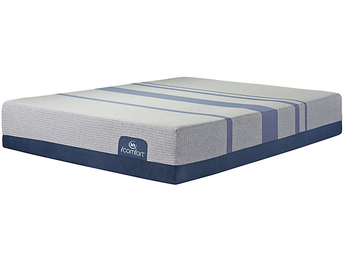 Queen Blue Max 1000 Plush Mattress, , large
