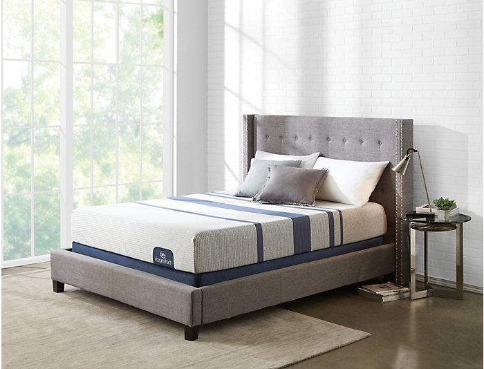 Queen Low Profile Blue 100XT Mattress Set, , large
