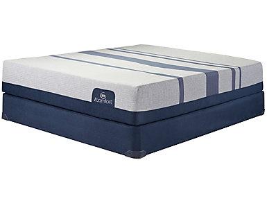 Twin XL Low Profile Blue 300XT Mattress Set, , large