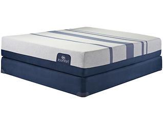 California King Low Profile Blue 500XT Mattress Set, , large