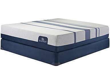 Twin XL Low Profile Blue 500XT Mattress Set, , large