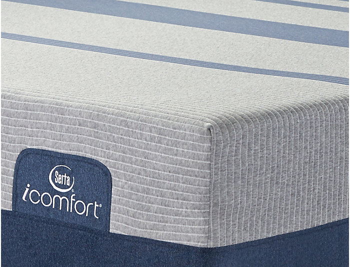 Queen Low Profile Blue Max 1000 Cushion Firm Mattress Set, , large
