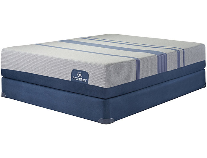 Full Low Profile Blue Max 1000 Plush Mattress Set Art Van Puresleep