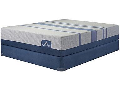 Full Low Profile Blue Max 1000 Plush Mattress Set, , large