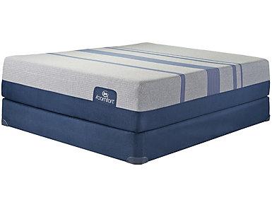 Queen Low Profile Blue Max 3000 Mattress Set, , large