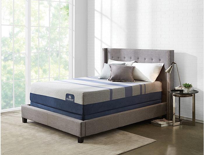 Queen Low Profile Split Blue Max 5000 Mattress Set, , large