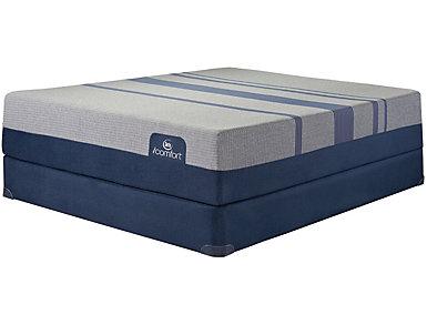 Twin XL Low Profile Blue Max 5000 Mattress Set, , large