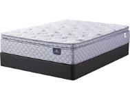 Serta Sheppard Pillow Top Queen Mattress Base Set