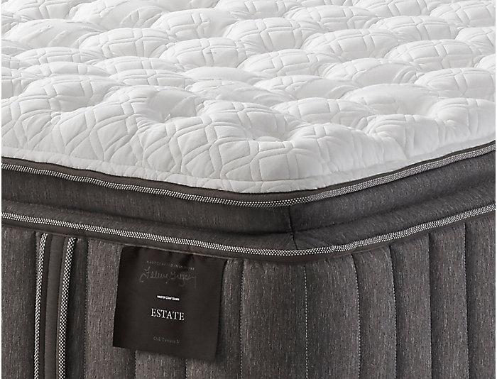 Queen Oak Terrace Euro PillowTop Mattress Set, , large