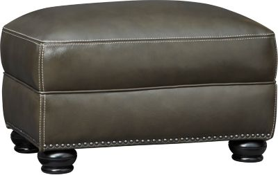 Cindy Round Burgundy Ottoman Art Van Furniture
