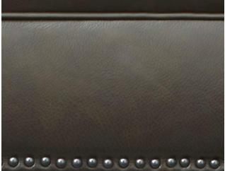 Bennett Leather Ottoman, , large