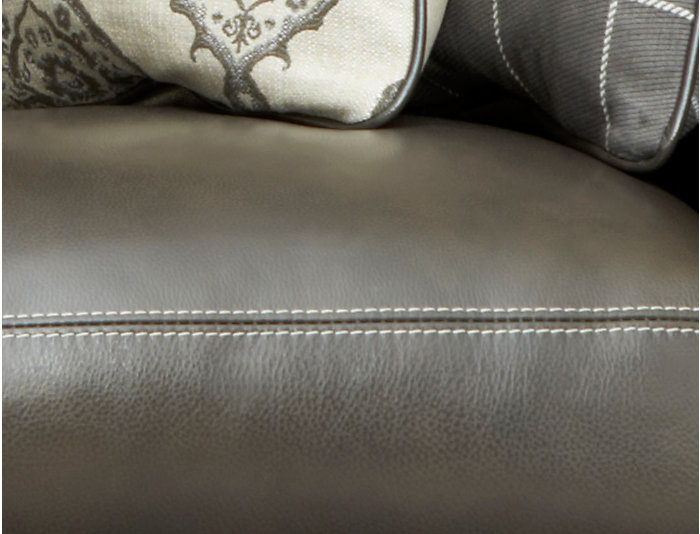 Genuine Leather Bennett Loveseat with Nail-Head Trim
