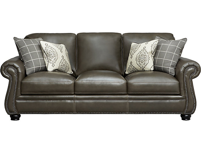 Bennett Grey Leather Sofa