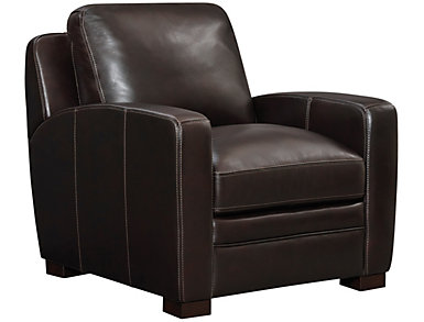 Theory Genuine Leather Chair, Brown