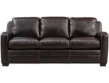 Theory Leather Sofa, , large