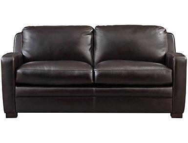 Theory Full Leather Sleeper Sofa, , large