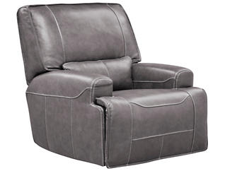 Dylan Leather Power Glide Recliner, Grey, , large