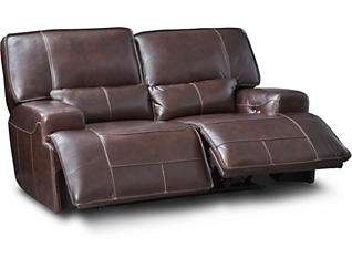 Dylan Brown Power Reclining Leather Loveseat, , large