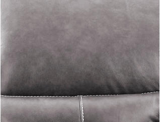 Dylan Grey Power Reclining Leather Loveseat, , large