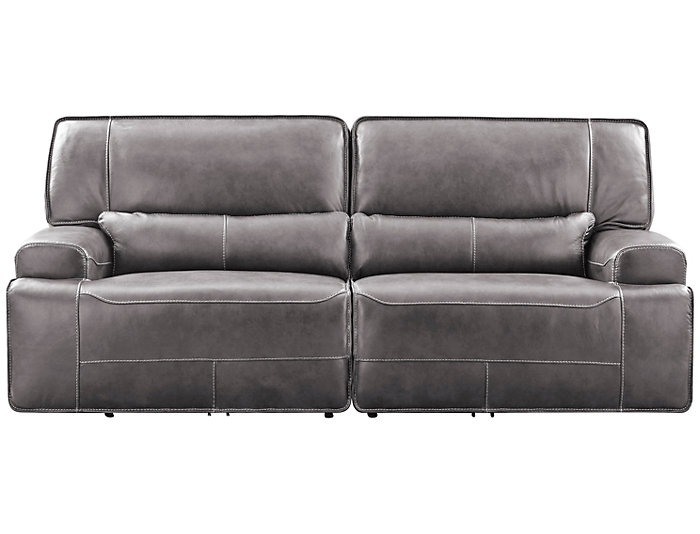 Dylan Power Leather Sofa | Art Van Home