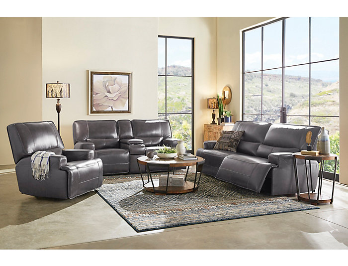 Dylan Power Leather Sofa