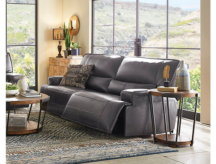 Cool Dylan Grey Power Reclining Leather Sofa Squirreltailoven Fun Painted Chair Ideas Images Squirreltailovenorg