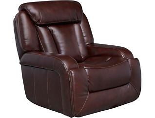 Max Dual Power Glider Recliner, Burgundy, , large