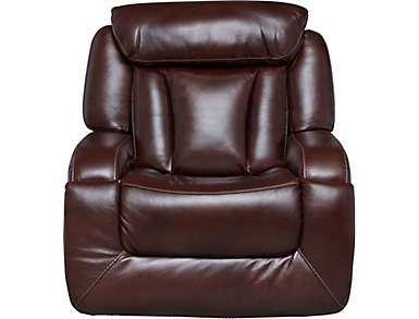 Max Dual Power Glider Leather Recliner, , large