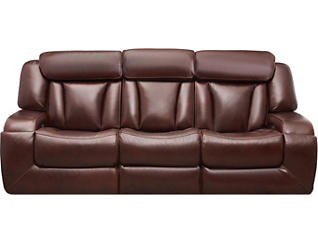 Max Dual Power Reclining Sofa, Burgundy, , large
