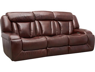 Max Dual Power Reclining Leather Sofa, , large