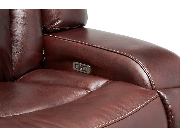 Max Dual Power Reclining Sofa, Burgundy, , large