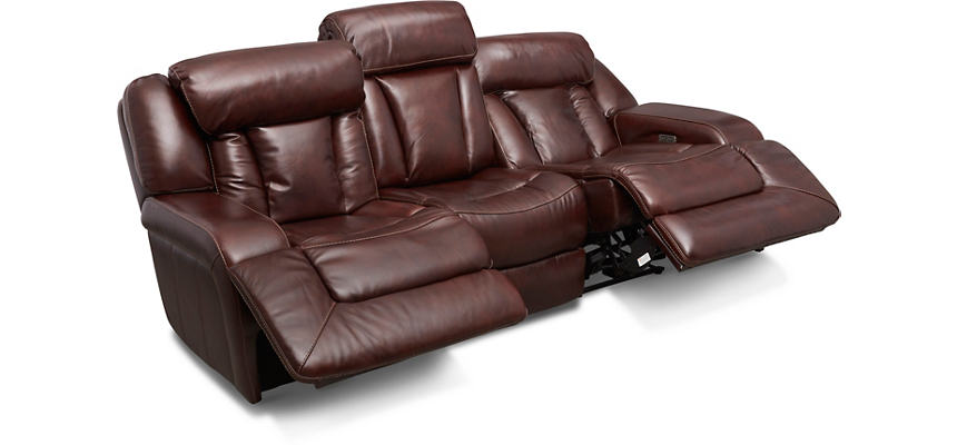 Max Dual Power Reclining Leather Sofa