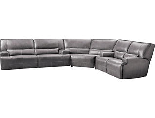 3 Piece Power Sectional with Loveseat, Grey, , large