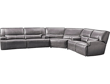 Dylan 3 Piece Power Sectional with Loveseat, Grey, , large