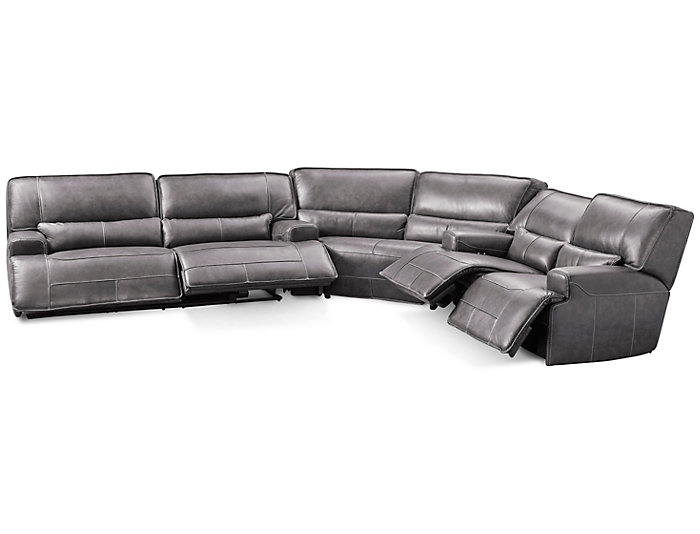 3Pc Power Sectional W/Loveseat, , large
