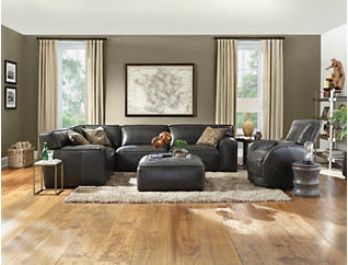 Colton 4 Piece Leather Sectional, , large