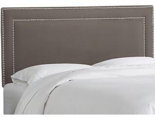Full Charcoal Nailhead Bed, , large
