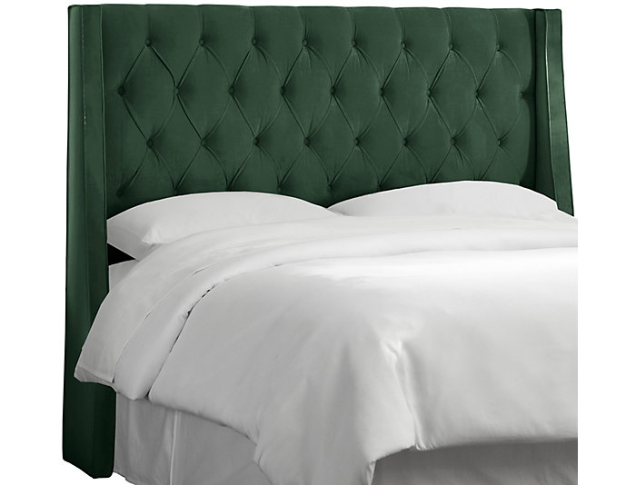 Full Emerald Wingback Bed, , large