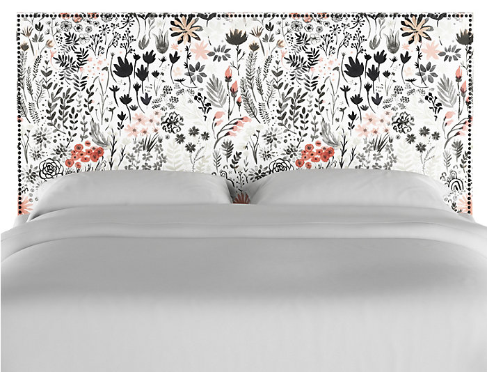 Twin Botanic Red Headboard, , large