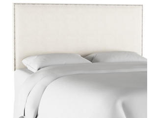 Queen Talc Linen Headboard, , large