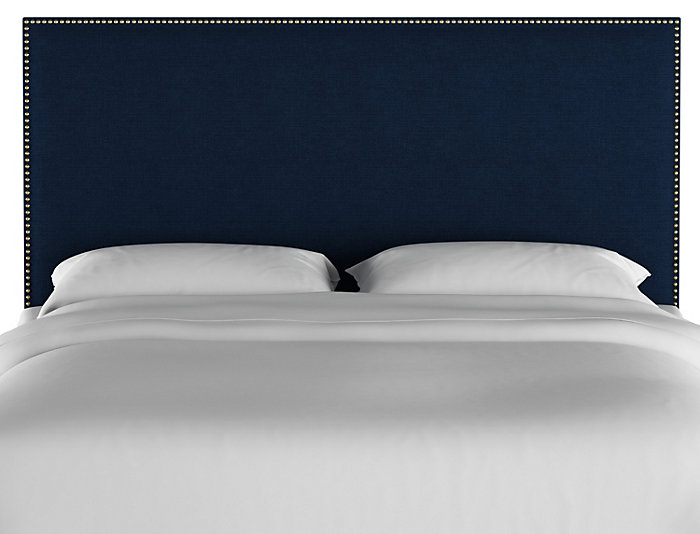 King Navy Linen Headboard, , large