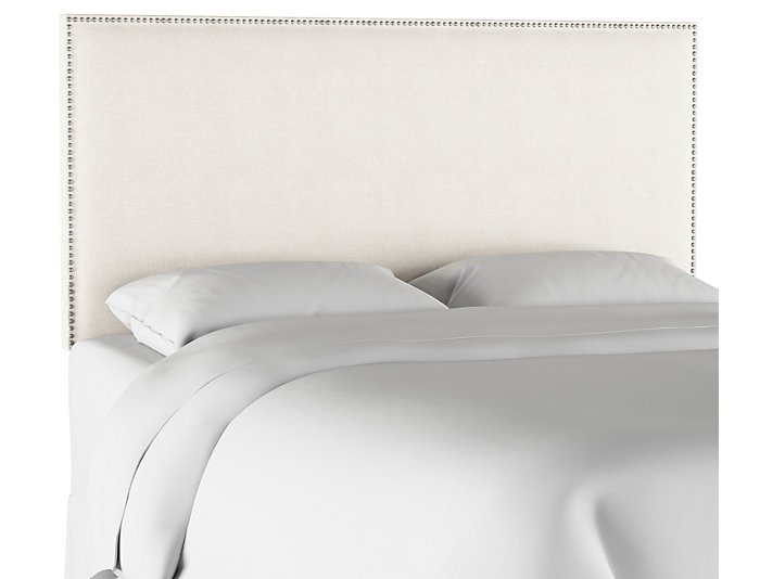 Cal King Talc Linen Headboard, , large