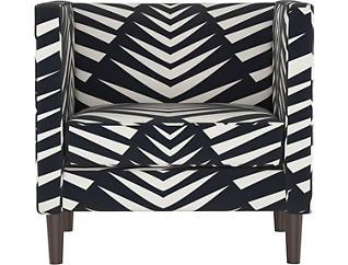 Wicker Park Geo Skin Chair, Black, large