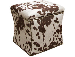 Zoe Storage Ottoman, Brown/Udder, , large