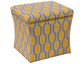 Zoe Storage Ottoman, Yellow, , large